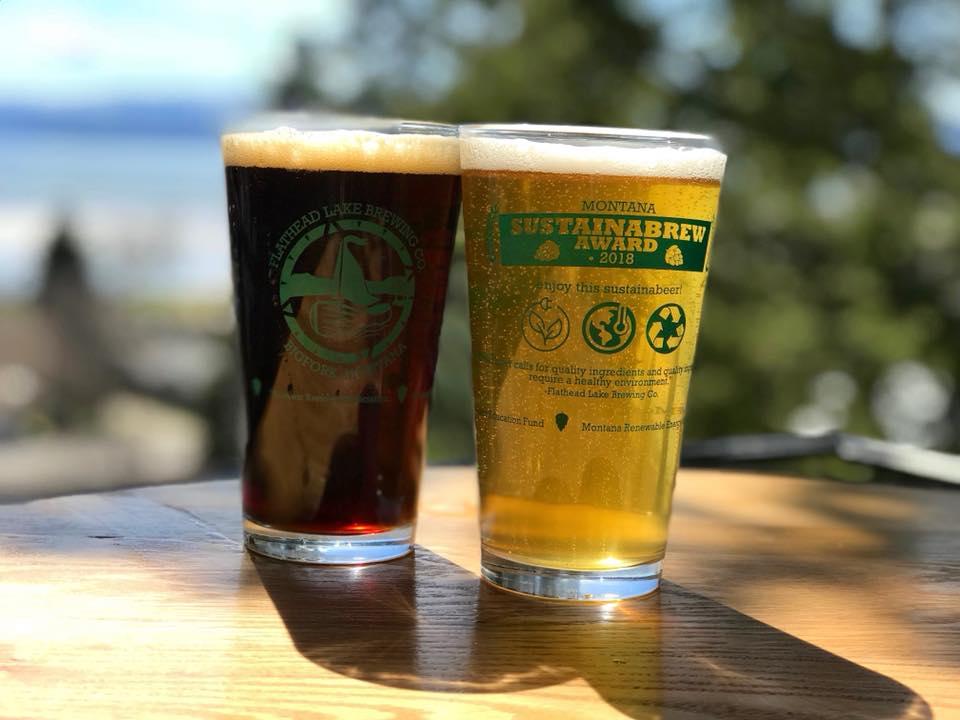 Flathead Lake Brewing Sustainabrew Pint